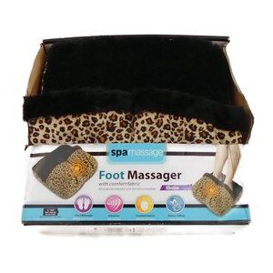 NEW Leopard Print Foot Massager NWT Vibration OS